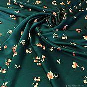 Материалы для творчества handmade. Livemaster - original item Fabric: Gucci silk-bouquets on the emerald. Handmade.