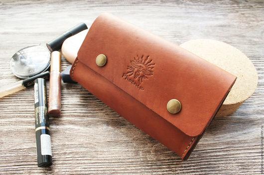 Органайзеры для сумок ручной работы. Ярмарка Мастеров - ручная работа. Купить Косметичка, несессер из  рыжей кожи. Handmade. Рыжий