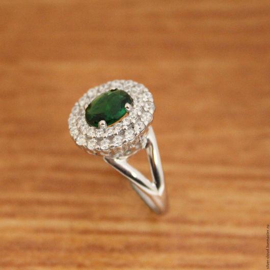 Кольца ручной работы. Ярмарка Мастеров - ручная работа. Купить Серебряное кольцо Океан, серебро 925. Handmade. Тёмно-зелёный