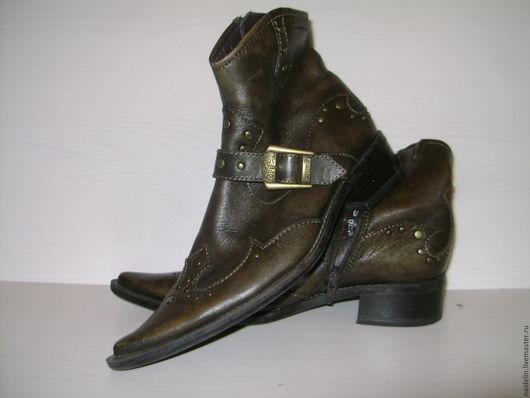 Винтажная обувь. Ярмарка Мастеров - ручная работа. Купить Полусапожки казаки немецкое качество на 35 размер. Handmade. Коричневый
