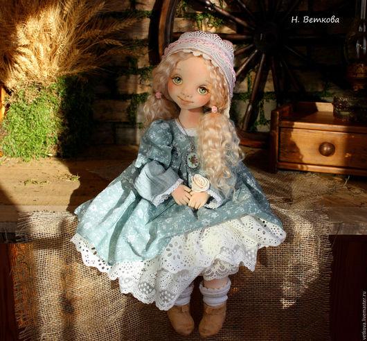Коллекционные куклы ручной работы. Ярмарка Мастеров - ручная работа. Купить Анечка текстильная авторская будуарная коллекционная интерьерная кукла. Handmade.