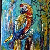 Картины и панно ручной работы. Ярмарка Мастеров - ручная работа Попугай. Handmade.
