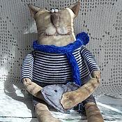 Куклы и игрушки ручной работы. Ярмарка Мастеров - ручная работа кот-ангел кофейный Рыбачок.. Handmade.