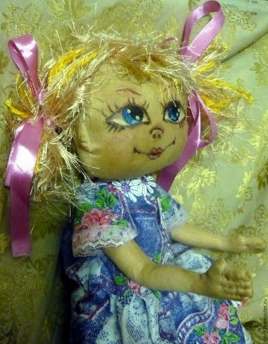 Человечки ручной работы. Ярмарка Мастеров - ручная работа. Купить кукла текстильна ЛЕНОЧКА. Handmade. Комбинированный, игрушка в подарок
