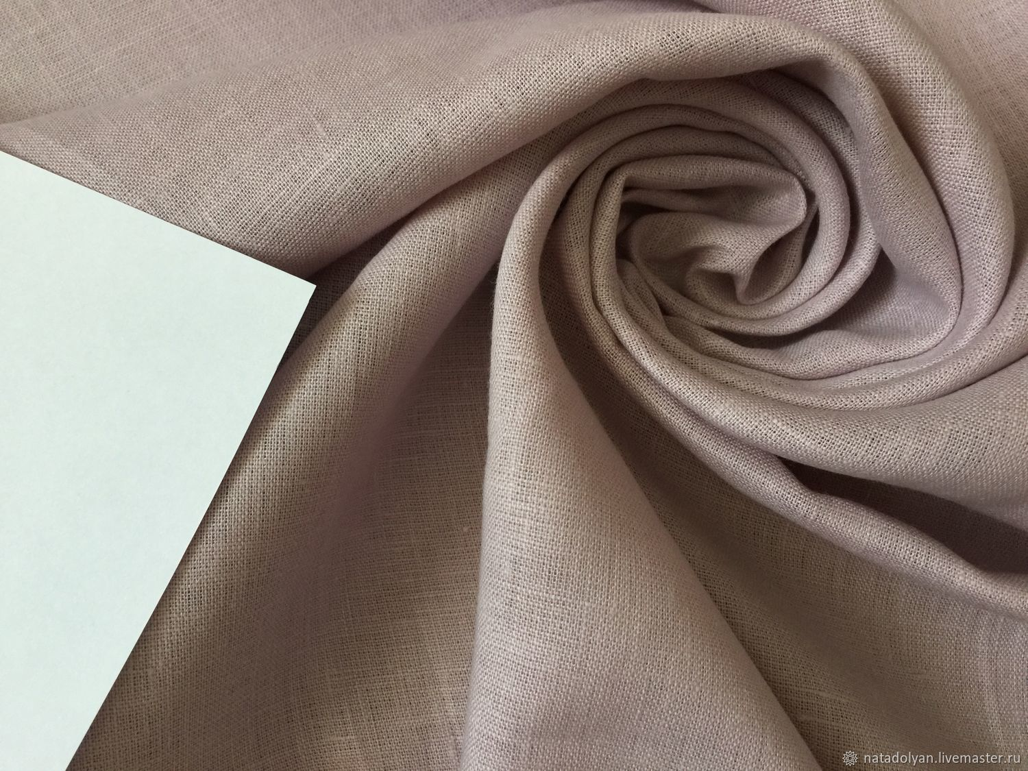 Sewing handmade. Livemaster - handmade. Buy Linen FLAP costume 100% 'Delicate dusty pink'.Flax, len, summer fabric