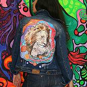Одежда ручной работы. Ярмарка Мастеров - ручная работа Роспись джинсовок. Handmade.