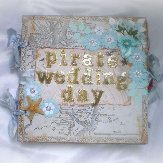 """Свадебные фотоальбомы ручной работы. Ярмарка Мастеров - ручная работа. Купить Свадебный альбом """"Пираты Карибского моря"""". Handmade."""
