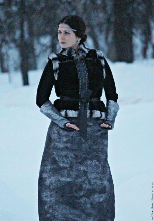 """Юбки ручной работы. Ярмарка Мастеров - ручная работа. Купить Авторская юбка """"Иней"""".. Handmade. Темно-серый, красивая юбка"""