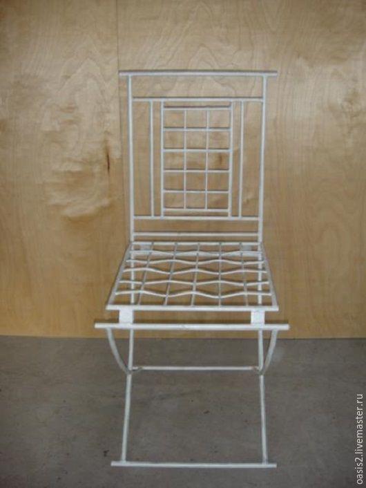 Мебель ручной работы. Ярмарка Мастеров - ручная работа. Купить Стул кованый без мягкой обивки. Handmade. Белый, стулья