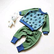 Работы для детей, ручной работы. Ярмарка Мастеров - ручная работа Детский костюм. Свитшот и штанишки. Handmade.