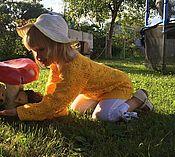 Кофты ручной работы. Ярмарка Мастеров - ручная работа Желтая вязанная кофточка для девочки. Handmade.