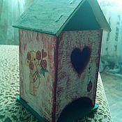 """Для дома и интерьера ручной работы. Ярмарка Мастеров - ручная работа Чайный домик """"А я люблю"""". Handmade."""