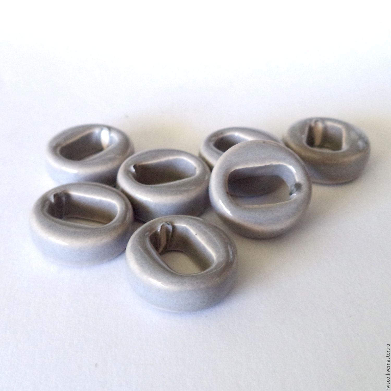Керамические бусины для браслетов Regaliz серые, Фурнитура, Афины, Фото №1