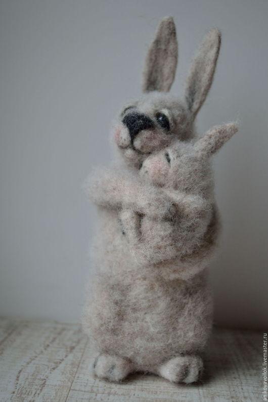 Игрушки животные, ручной работы. Ярмарка Мастеров - ручная работа. Купить Мама Кроль. Handmade. Серый, заяц игрушка