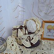 """Работы для детей, ручной работы. Ярмарка Мастеров - ручная работа Комплект """"Ванильное облачко"""". Handmade."""
