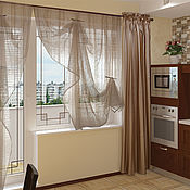 Для дома и интерьера handmade. Livemaster - original item Curtains for the kitchen