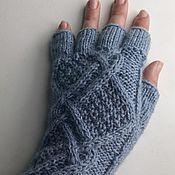 Аксессуары handmade. Livemaster - original item Mitts with the fingers of Irina. Handmade.