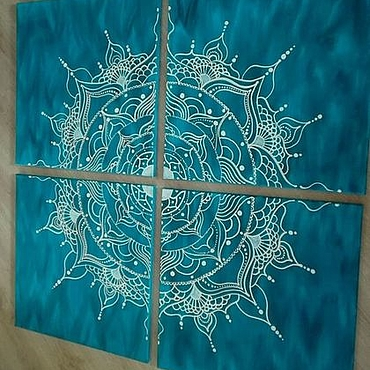 Картины и панно ручной работы. Ярмарка Мастеров - ручная работа Модульная картина «Мандала Счастья». Handmade.