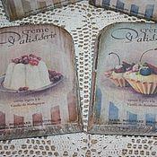 """Для дома и интерьера ручной работы. Ярмарка Мастеров - ручная работа Сырные досочки """"Пироженки"""". Handmade."""