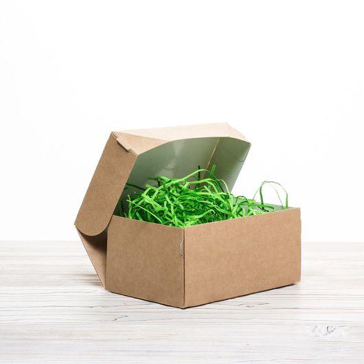 Упаковка ручной работы. Ярмарка Мастеров - ручная работа. Купить Коробка 15х10х7см крафт с ламинацией самосборная. Handmade. Упаковка