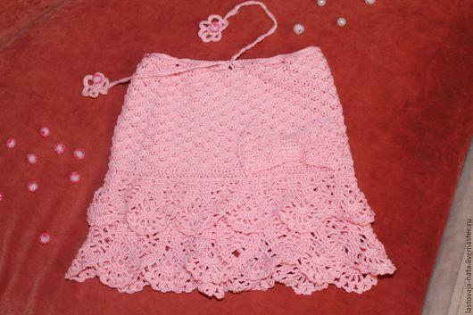 Одежда для девочек, ручной работы. Ярмарка Мастеров - ручная работа. Купить Нежно-розовая юбочки. Handmade. Розовый, юбка летняя