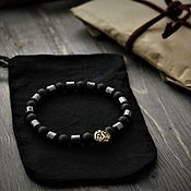 Украшения handmade. Livemaster - original item Bracelet ` natural shungite and hematite. Handmade.