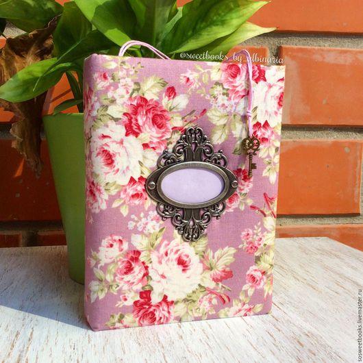 "Блокноты ручной работы. Ярмарка Мастеров - ручная работа. Купить Блокнот ручной работы А6 ""Розовый сад"". Handmade."
