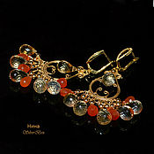 Украшения handmade. Livemaster - original item Earrings chandler Citrine. Earrings Carnelian SOLAR Handmade. Handmade.