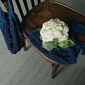 """Авоська ручной работы. Ярмарка Мастеров - ручная работа Авоська""""Картошка, морковка и капусту не забудь"""", 100% хлопок. Handmade."""