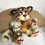 Мягкие игрушки ручной работы. Ярмарка Мастеров - ручная работа Кот Пушистик с мышонком. Handmade.
