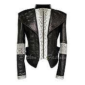 Одежда handmade. Livemaster - original item The jacket of Python DELUER. Handmade.
