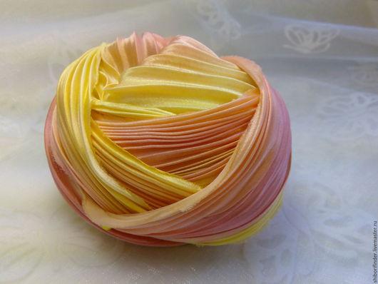Для украшений ручной работы. Ярмарка Мастеров - ручная работа. Купить Ленты Шибори Silk Ribbons Shibori №11 Тубироза. Handmade.