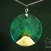 Украшения handmade. Livemaster - original item The top of the mountain is a pendant made of oak and jewelry resin.. Handmade.