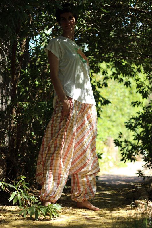 Брюки, шорты ручной работы. Ярмарка Мастеров - ручная работа. Купить Летние удобные широкие штаны. Handmade. Брюки, Алибаба