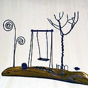 """Сувениры и подарки ручной работы. Ярмарка Мастеров - ручная работа Миниатюрная авторская композиция для фотографии """"Тихий шепот детства """". Handmade."""