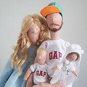 """Куклы и игрушки ручной работы. Ярмарка Мастеров - ручная работа Тильда  семья """"Счастливые родители"""". Handmade."""