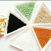 Материалы для творчества handmade. Livemaster - original item Triangle beads and beads 7 inches. Handmade.