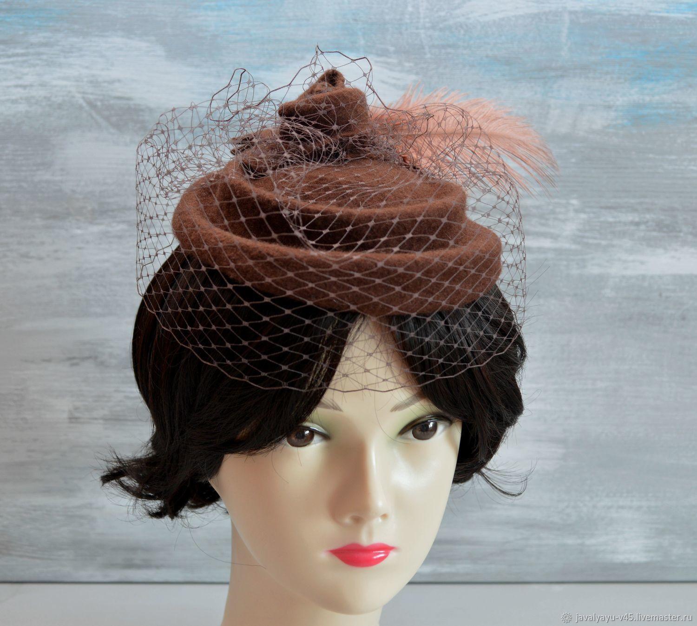 Шляпка - вуалетка: Медальон, Шляпы, Санкт-Петербург,  Фото №1