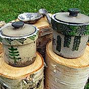 Посуда ручной работы. Ярмарка Мастеров - ручная работа Емкость керамическая раку Зимняя. Handmade.