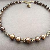 Украшения handmade. Livemaster - original item necklace-choker byzantium ii of pearls of the baroque and topaz. Handmade.