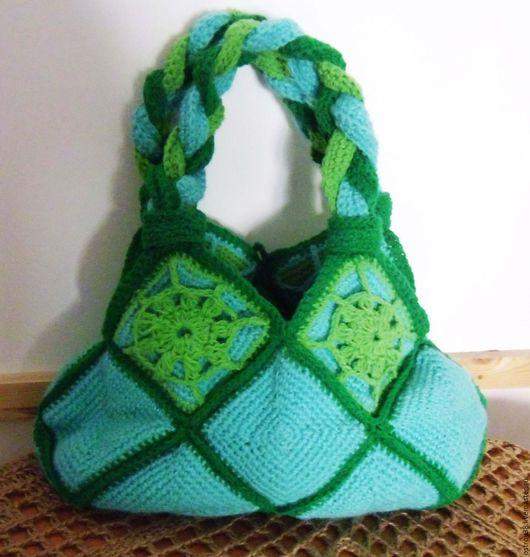 `Изумрудно-мятное удовольствие` дамская сумочка
