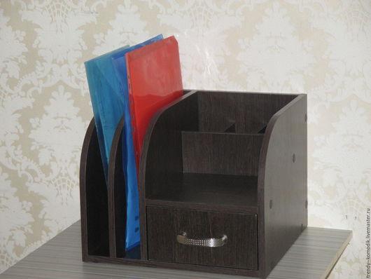"""Мебель ручной работы. Ярмарка Мастеров - ручная работа. Купить Настольная подставка """"Венге- темный"""". Handmade. Черный, для офиса, для руководителя"""