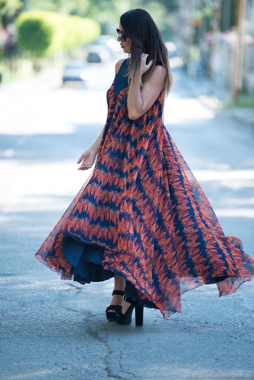 Evening dress, Long chiffon dress, Fashion dress, Summer dress