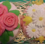 Косметика ручной работы. Ярмарка Мастеров - ручная работа набор мыла розы и ромашки в овале. Handmade.