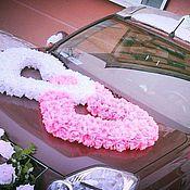 Аксессуары ручной работы. Ярмарка Мастеров - ручная работа Украшение на свадебный автомобиль сердца. Handmade.