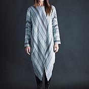 Одежда handmade. Livemaster - original item Warm tunic, Asymmetrical tunic-TU0611CK. Handmade.