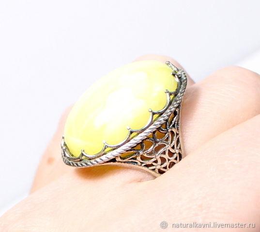 Посеребряное Кольцо / перстень из натурального янтаря (а) – купить на Ярмарке Мастеров – JRAK0RU | Перстень, Москва