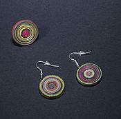 """Украшения ручной работы. Ярмарка Мастеров - ручная работа """"Лавандовый миг"""" серьги и кольцо. Handmade."""