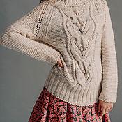 Белый вязаный свитер женский с доставкой