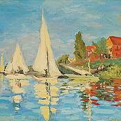 Картины и панно handmade. Livemaster - original item Seascape Impressionism regatta sail boats oil. Handmade.